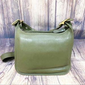 Rare Vtg Coach Legacy Crossbody Bag #9966 Green